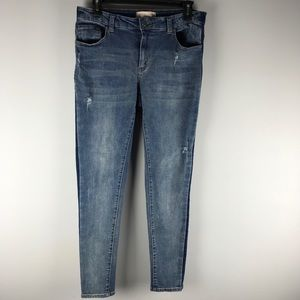 Philosophy skinny jeans distressed mid rise